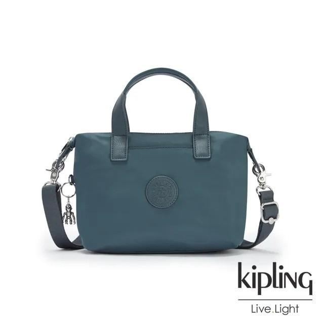 【KIPLING】山林湖茵綠簡約手提肩背托特包-KALA COMPACT
