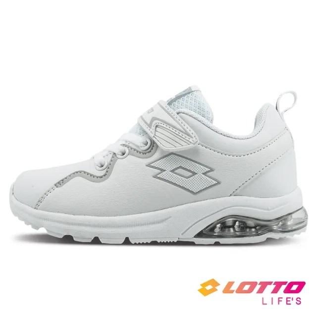 【LOTTO】運動鞋 兒童鞋  童鞋 VIGOR RIDE 氣墊跑鞋(白-LT1AKR3129)