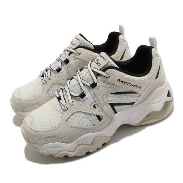 【SKECHERS】休閒鞋 D Lites 3.0 Air 厚底 女鞋 老爹鞋 修飾 耐磨 記憶型泡棉鞋墊 米 黑(149261OFWT)