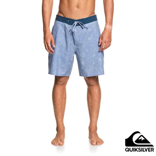 【Quiksilver】男款 男泳裝 衝浪褲 褲子 休閒短褲 UNIDENTIFIED BEACHSHORT 18(淺藍)