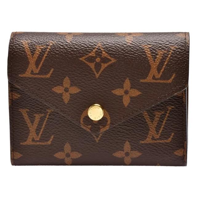 【Louis Vuitton 路易威登】M62472經典Victorine系列Monogram帆布印花三折暗釦短夾