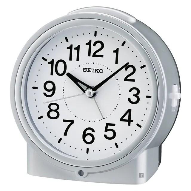 【SEIKO 精工】滑動式秒針嗶嗶聲靜音貪睡鬧鐘(QHE117S)