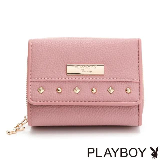【PLAYBOY】短夾 輕搖滾系列(粉色)