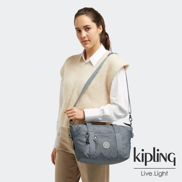 【KIPLING】個性淺灰藍手提側背包-ART MINI