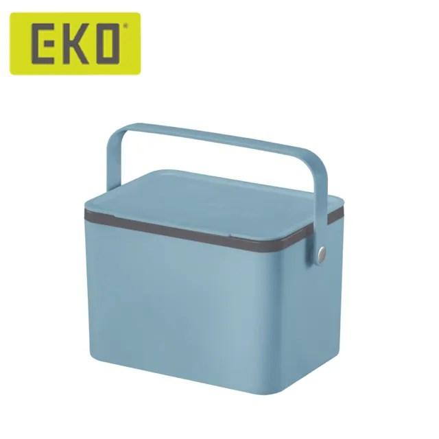 【EKO】黛可餐廚垃圾盒-藍(廚餘桶/廚房/防蟲防臭/時尚簡約)