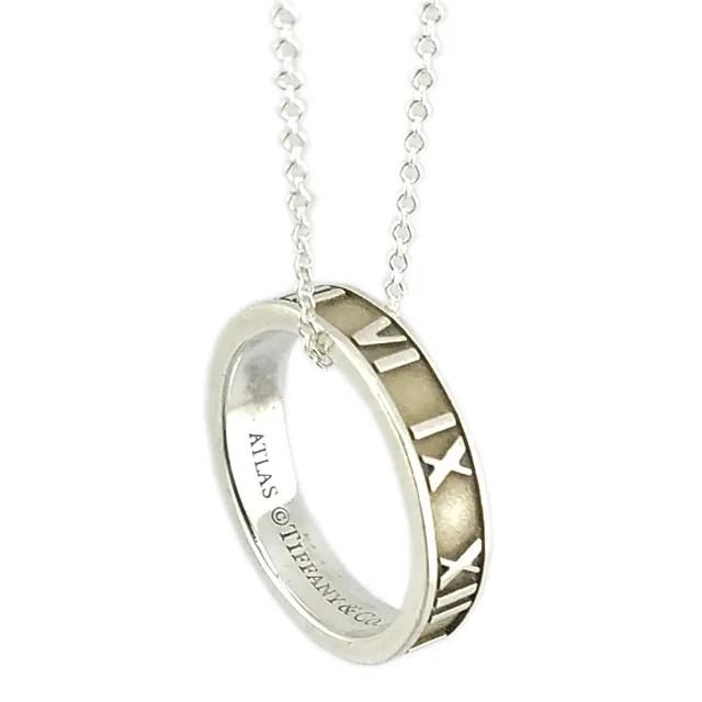 【Tiffany&Co. 蒂芙尼】Altas羅馬數字戒環925純銀項鍊