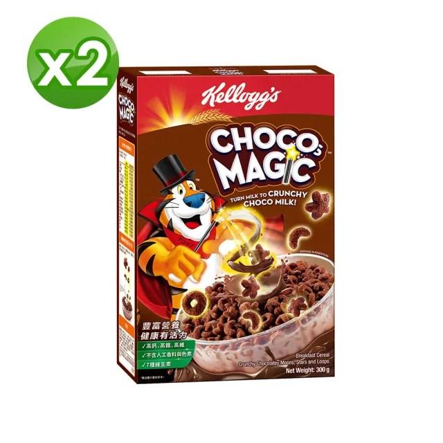 【家樂氏Kelloggs】東尼魔法巧克力早餐穀物 300GX2(早餐麥片/穀片)