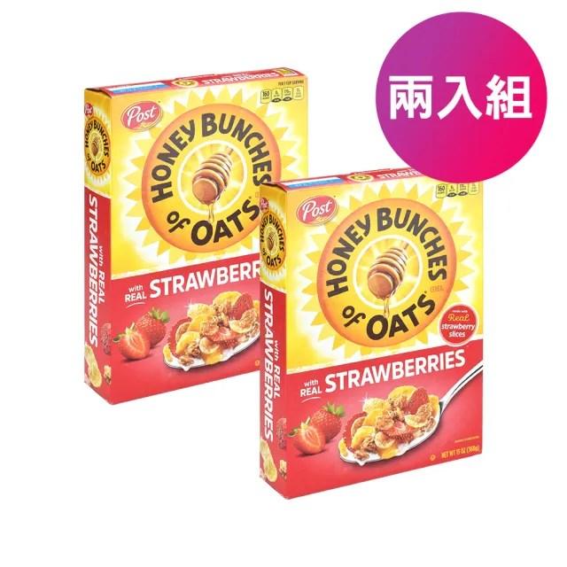 【美國POST】草莓蜂蜜 早餐穀片 燕麥 多穀物 早餐麥片(2入)