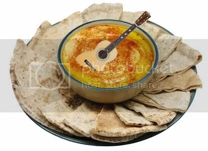 there's a guitar in this hummus, wtf?!
