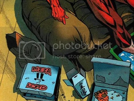 wally west eats a lot of pizza because of his high metabolism