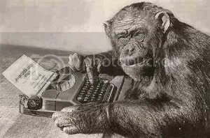 monkey on a type writer