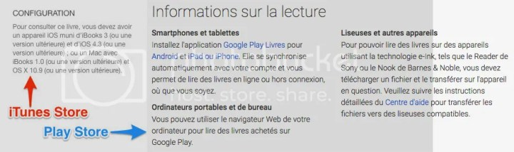 Restrictions de lecture sur le Play Store et l'iTunes Store