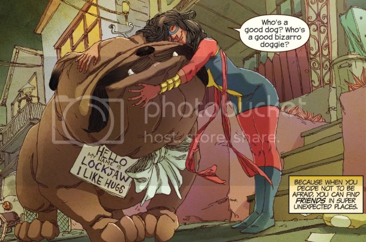Lockjaw & Ms. marvel
