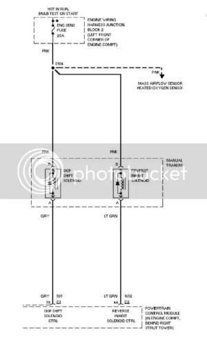 t56 m6 replaced reverse lockout solenoid still LOCKED