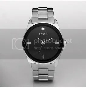 Fossil Three Hand Gunmetal Dial watch