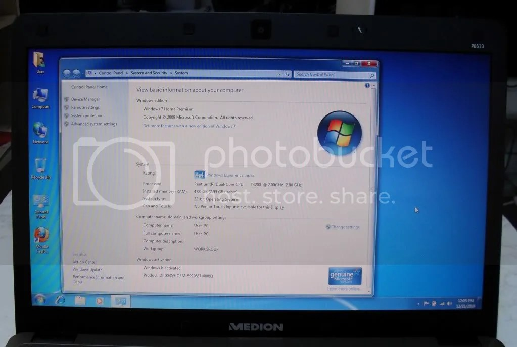 MEDION AKOYA P6613 LAPTOP 2GHZ 4GB RAM 320GB 16 HD PC EBay