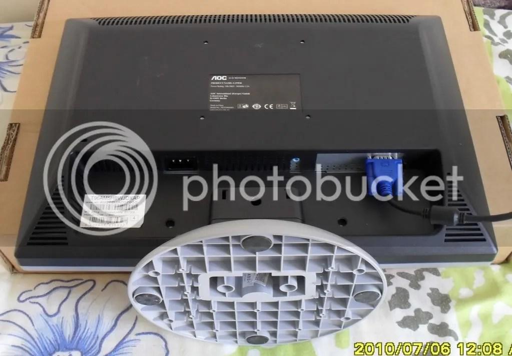 AOC 19 INCH LCD TFT FLAT PANEL MONITOR PC MAC SCREEN EBay