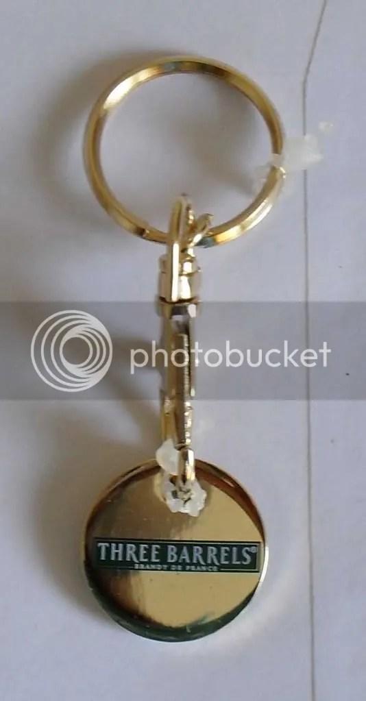 Official Three Barrels Brandy Key Ring Locker Coin 163 5 Ebay