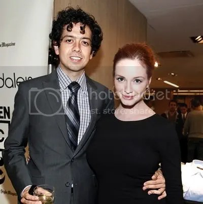 Mad Mens Christina Hendricks and Super Troopers Geoffrey Arend: encouraging geeks to go for the hottie.
