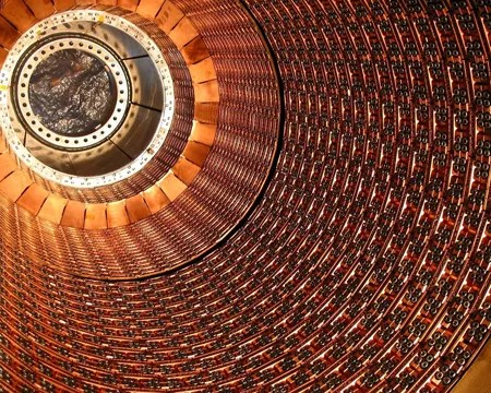 Interior shot of Large Hadron Collider.