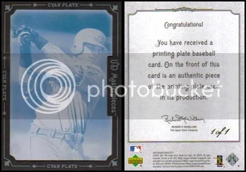 Josh Hamilton Cyan Printing Plate