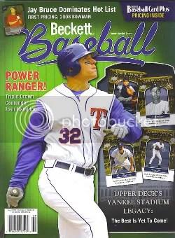 Josh Hamilton Beckett Baseball Cover