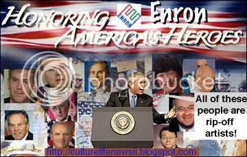 Bush and Enron, cartoon