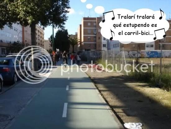 [foto: disfrutando el carril-bici]