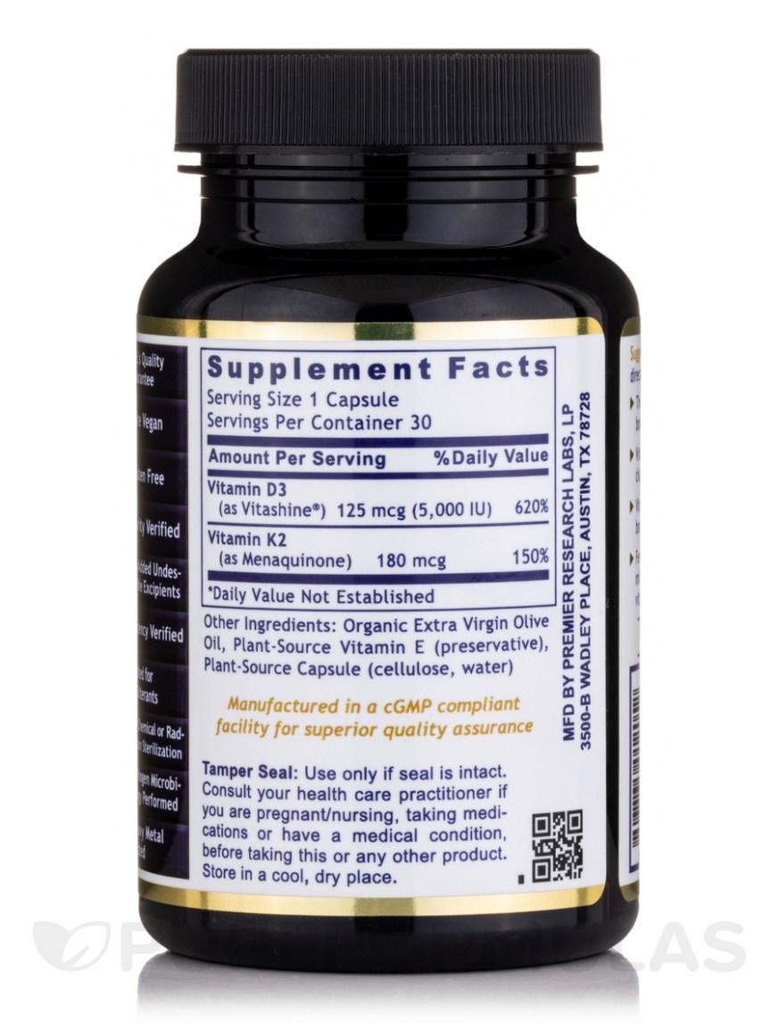 Premier Vitamin D3+K2 - 30 Vegetarian Capsules