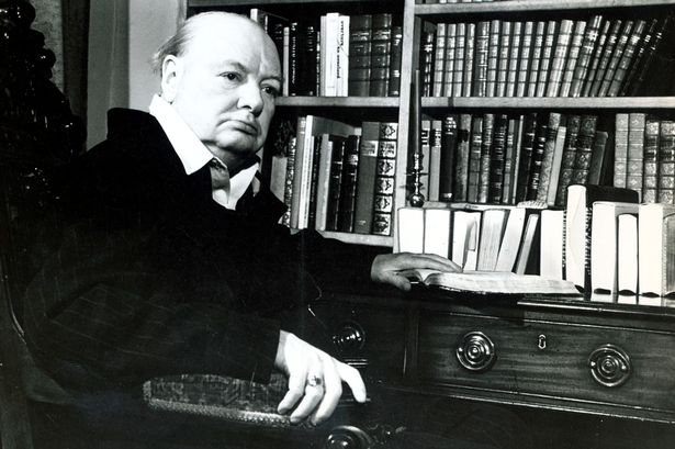 Image result for churchill and books