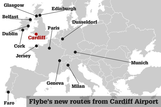 Flybe's new routes from Cardiff Airport