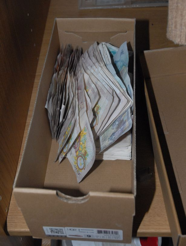 Money seized by police investigating Carl Honey- Jones, of Penlan Road, Swansea
