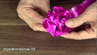 How to Make Roses Out of Ribbon