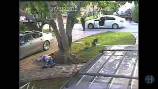 GRAPHIC CONTENT: Surveillance Video Of Shooting Of Miami Dade Police Officer, Growhouse Suspect