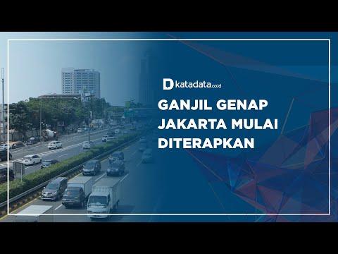 Ganjil Genap Jakarta Mulai Diterapkan | Katadata Indonesia