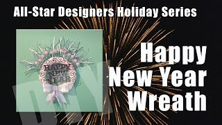 Happy New Year Wreath