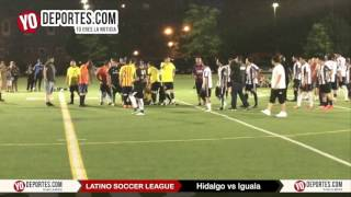 Bronca suspende juego Hidalgo vs. Iguala Latino Soccer League