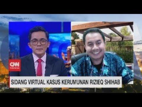 Sidang Virtual Kasus Kerumunan Rizieq Shihab