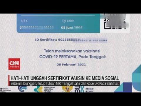 Hati-Hati Unggah Sertifikat Vaksin Ke Media Sosial