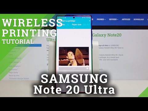 How to Connect Printer in SAMSUNG Galaxy Note 20 Ultra - Print Remotely