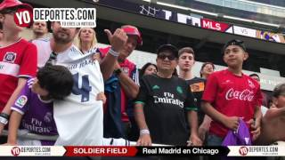 Chicago se entrega al Real Madrid previo al MLS All-Star 2017 en Soldier Field