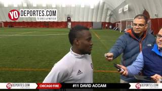 David Accam Chicago Fire Preseason Training Camp
