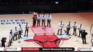 Mariachi Monumental de México half time Chicago Bulls vs  Houston Rockets