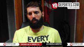 Nikola Mirotic anota 35 puntos en la derrota de Chicago Bulls vs, New York Knicks