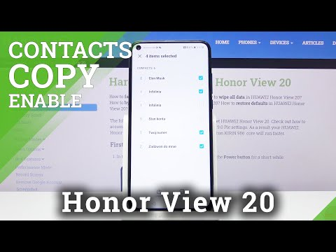 How to Copy Contacts in Honor View 20 – Import Contact List