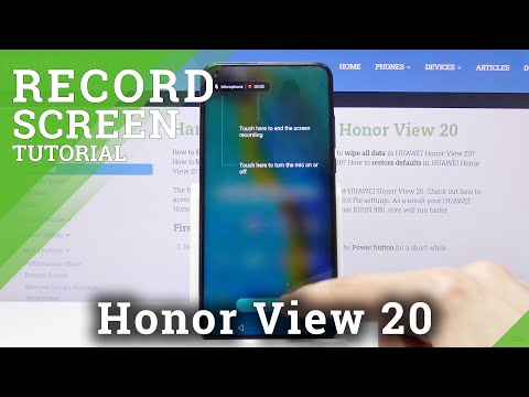 How to Activate Screen Recorder on Honor View 20 - Record Display