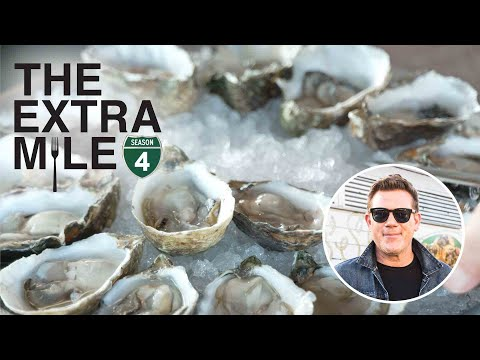 Tyler Florence Eats Fresh Oysters and Grilled Cheese | Great Food Truck Race | Food Network