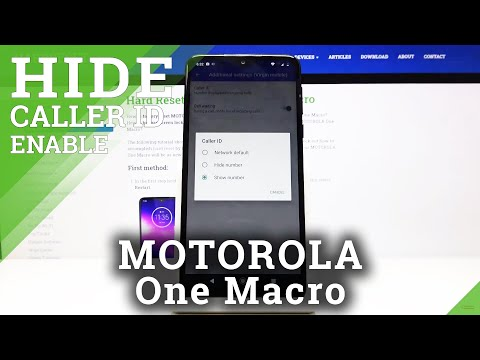 How to Manage ID Caller in MOTOROLA One Macro – Hide or Show ID Caller