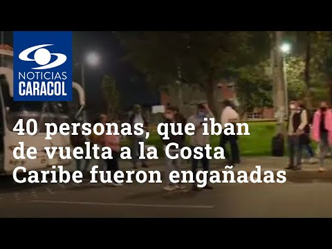 Grupo de 40 personas, que quiere volver a la costa Caribe, quedó varado en Bogotá por un engaño