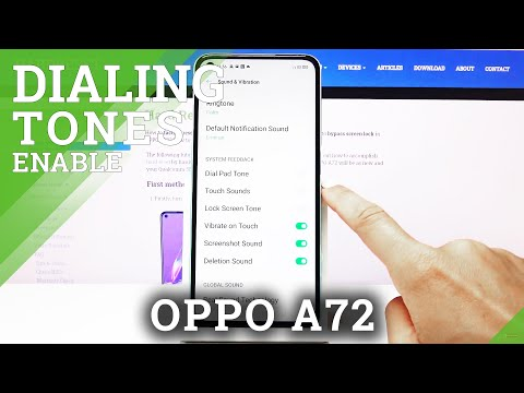 How to Enable Dial Pad Tones in OPPO A72?